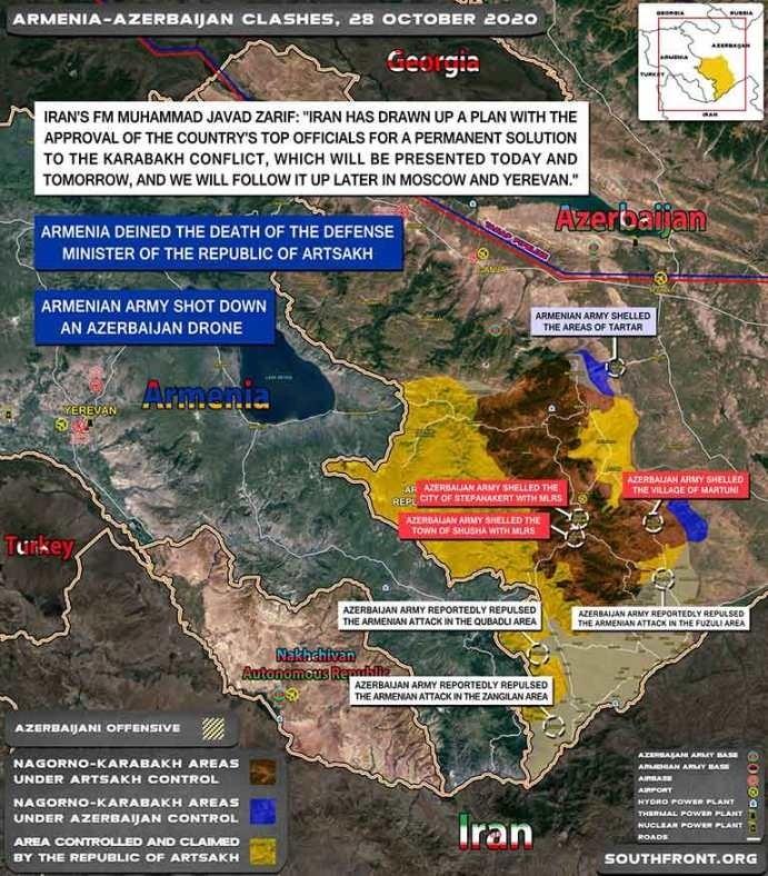 Боевые действия усилились в Нагорном Карабахе