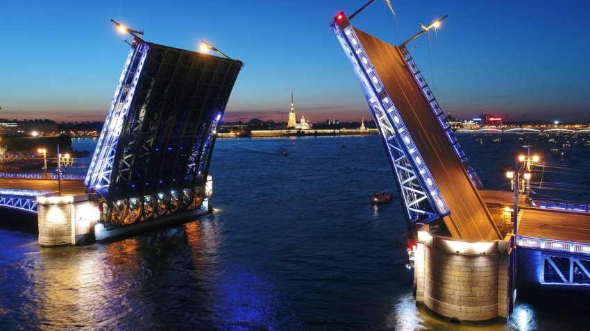Развод мостов в Санкт-Петербурге в июне 2021 года, график по часам