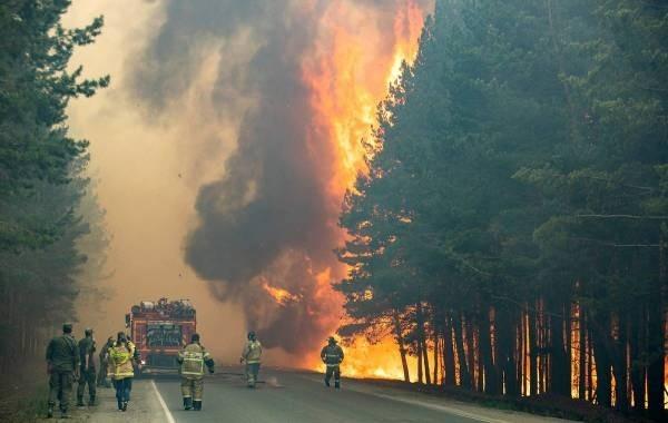 Из-за лесного пожара в Якутии эвакуировали поселок